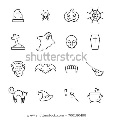 Fantasma icono halloween simple signo fiesta Foto stock © MarySan