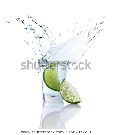 Lövés tequila só citrus felszolgált üveg Stock fotó © dash