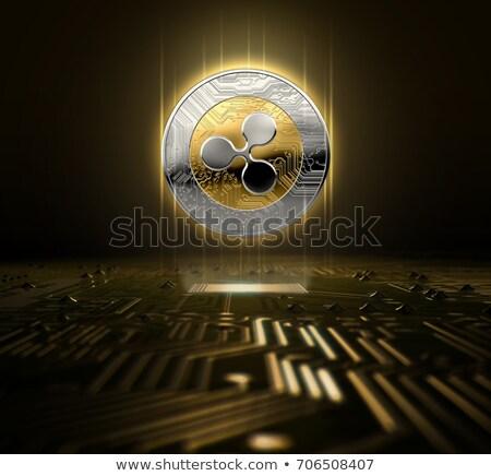 Ripple monety komputera płyta nowego niezależny Zdjęcia stock © grafvision