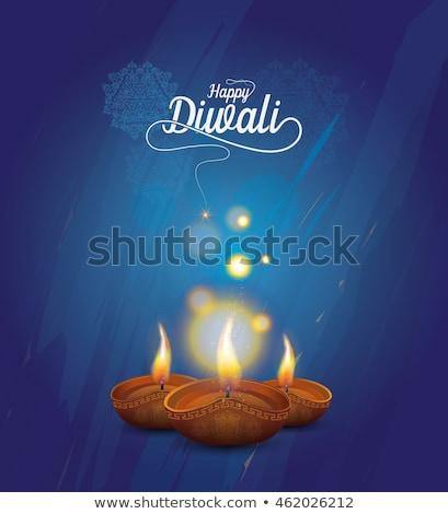 blue happy diwali background design Stock photo © SArts
