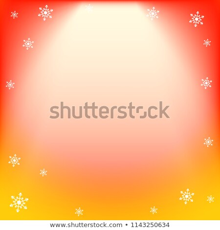 Winter vector red and yellow light effect, projector ray with shining halo and snowflakes Stock photo © heliburcka