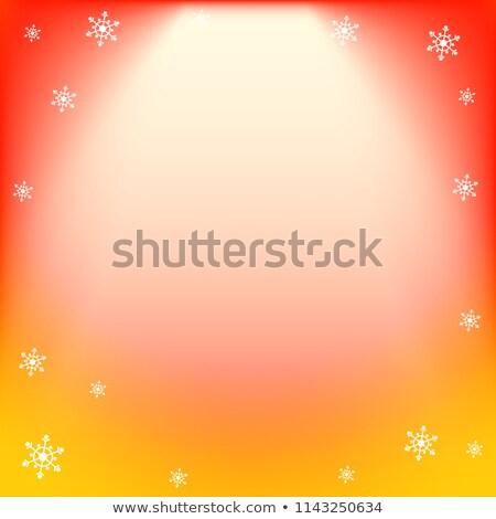 зима вектора красный желтый свет эффект Сток-фото © heliburcka