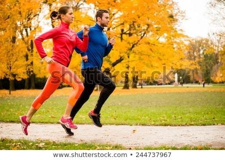 пару · работает · наверх · улице · фитнес · спорт - Сток-фото © kzenon