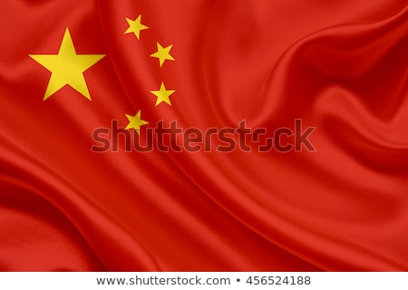 Chinese flag isolated on white Stock photo © daboost