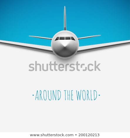 самолет · Flying · вокруг · Мир · линия · икона - Сток-фото © kyryloff