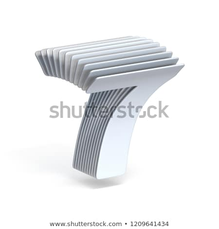 Curved paper sheets Number 7 SEVEN 3D Stock photo © djmilic