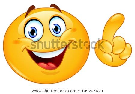 Making a face emoticon Stock photo © yayayoyo