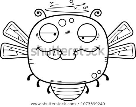 Cartoon dronken libel illustratie naar insect Stockfoto © cthoman