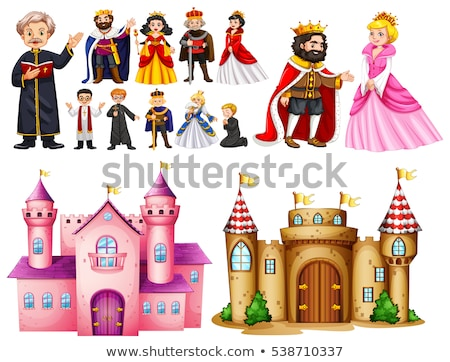 Royal palace and different characters Stock photo © colematt