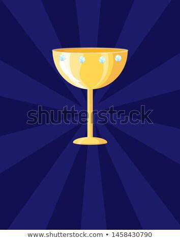 Champion icône affiche bleu fond Photo stock © robuart
