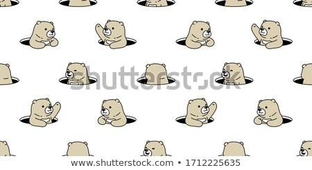 漫画 シロクマ 隠蔽 実例 後ろ にログイン ストックフォト © cthoman
