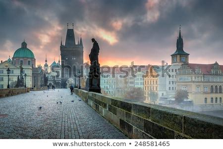 görmek · Prag · kale · akşam · nehir · Çek · Cumhuriyeti - stok fotoğraf © givaga