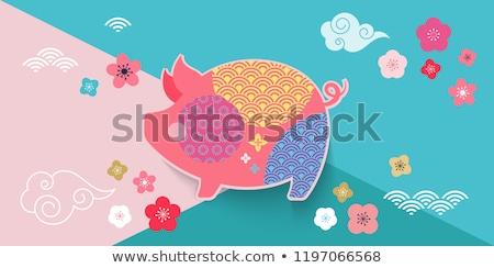 cartão · modelo · rosa · quadro · ilustração · flor - foto stock © bluering