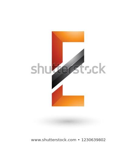 Arancione nero diagonale line vettore Foto d'archivio © cidepix