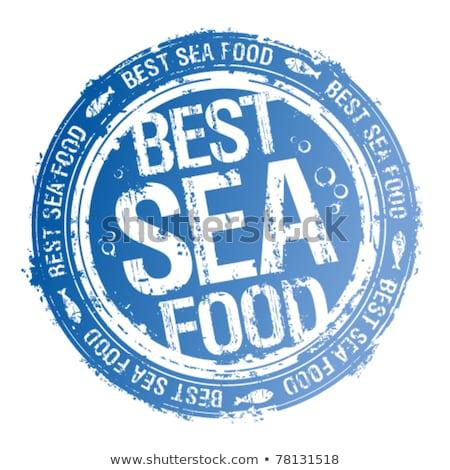 Vetor o melhor qualidade frutos do mar restaurante bandeira Foto stock © robuart