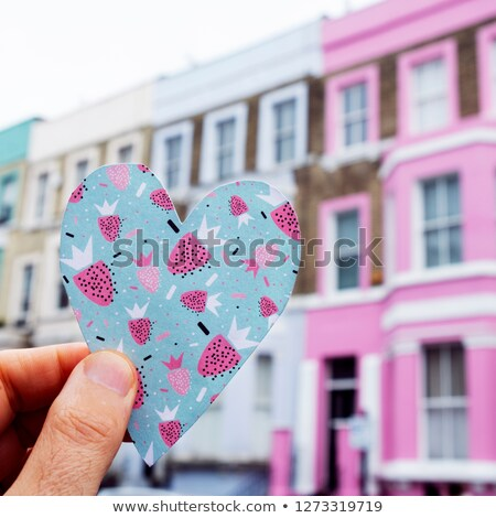 colorful heart in portobello road in london, UK Stock photo © nito