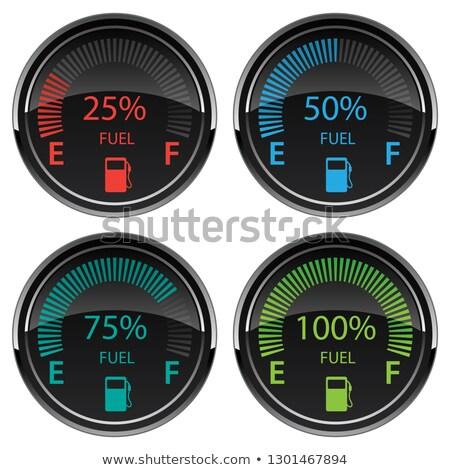 benzine · brandstofmeter · auto · boord · business · geld - stockfoto © jeff_hobrath