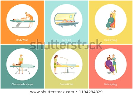 Chocolate Body Spa and Cosmetician Set Vector Stock photo © robuart
