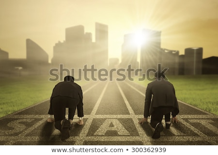 Opposite business competitor ready to start the business strategy Stock photo © alphaspirit