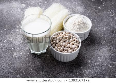 Gluténmentes szójabab liszt tészta tej bab Stock fotó © furmanphoto