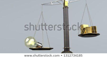 Idea Bulb Fine Gold Bars Stock photo © limbi007