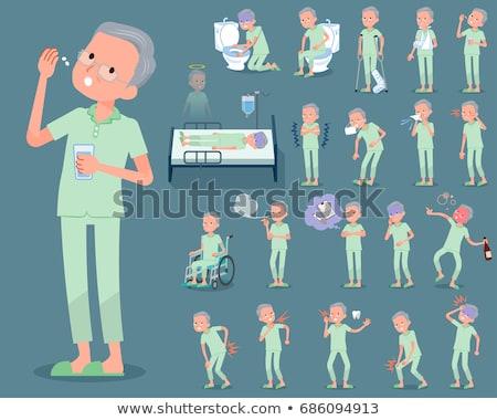 patient old men_alcohol Stock photo © toyotoyo