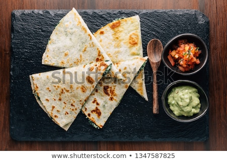 Delicious quesadillas with salsa Stock photo © BarbaraNeveu