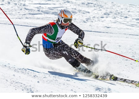 alpine skiing athlete stock photo © liolle