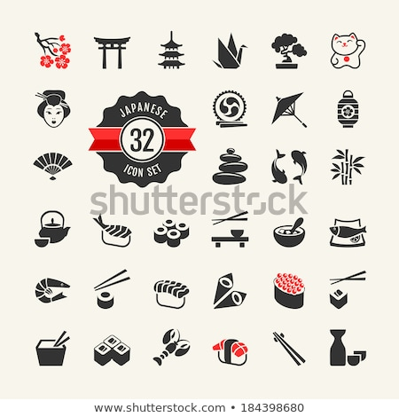 japan icon set stock photo © netkov1