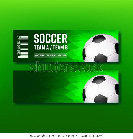 Green Ticket For Visit Soccer Season Match Vector Stock photo © pikepicture