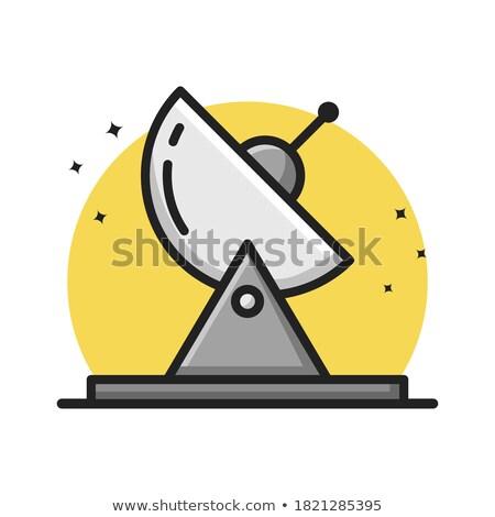 Przestrzeni satelitarnej ikona komórkowej komunikacji wektora Zdjęcia stock © robuart