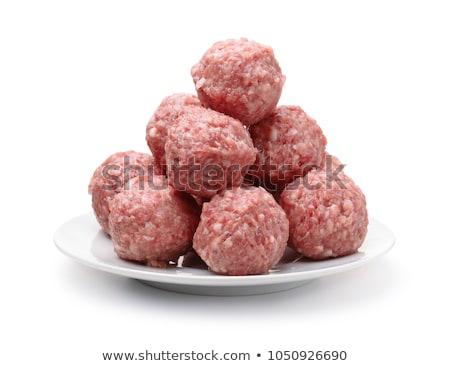 ミートボール 食品 ボール 赤 快適 ストックフォト © zkruger