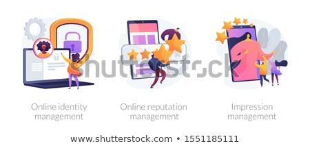 Wrażenie zarządzania poprawa strategie społecznej Zdjęcia stock © RAStudio