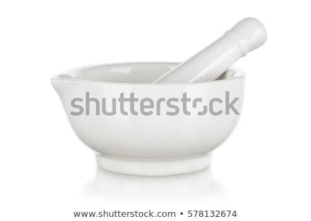 White mortar and pestle Stock photo © magraphics