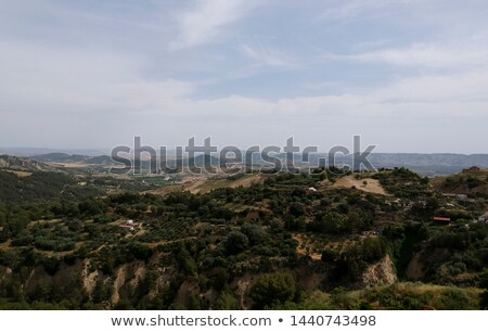 Panoramic view of landscape by the Tursi in Basilicata region, I Stock photo © boggy