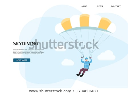 Skydiving Person with Parachute Jumping Website Stock photo © robuart