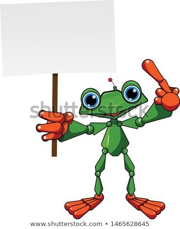 wesoły · zielone · żaba · ilustracja · wektora · wesoły - zdjęcia stock © brux