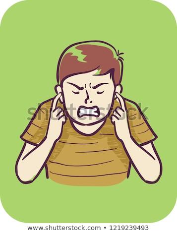 Teen Boy Symptom Sound Sensitivity Illustration Stock photo © lenm