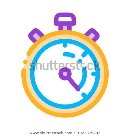 laundry service stop watch vector thin line icon stock photo © pikepicture