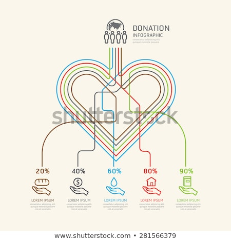 Charity Donation Web Poster, People Donate Money Stock photo © robuart