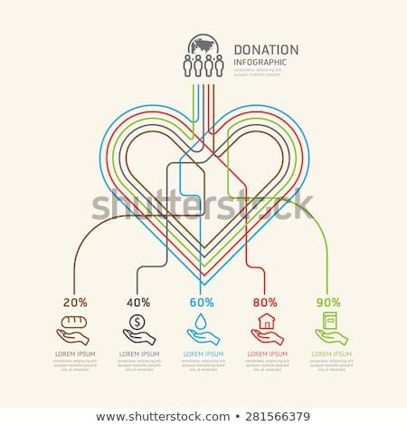 adomány · poszter · társasági · támogatás · önkéntes · vektor - stock fotó © robuart