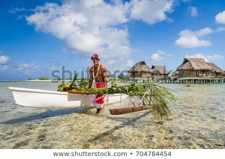bungalow · mare · acqua · esotiche · resort · spiaggia - foto d'archivio © dolgachov