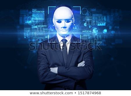 顔 認識 いくつかの 点数 男 技術 ストックフォト © ra2studio