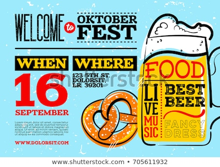Stock photo: Oktoberfest backdrop. Pretzels