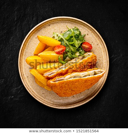 pork chop rolled in cornflakes stock photo © grafvision