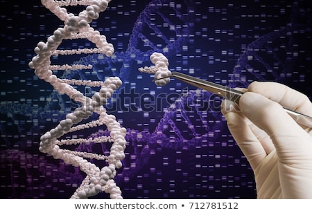 Gene biologia genético biotecnologia ilustração 3d tecnologia Foto stock © Lightsource
