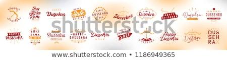 festival sale banner design for happy dussehra Stock photo © SArts