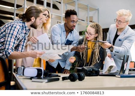 молодые бизнес-команды рабочих новых запуска проект Сток-фото © Freedomz