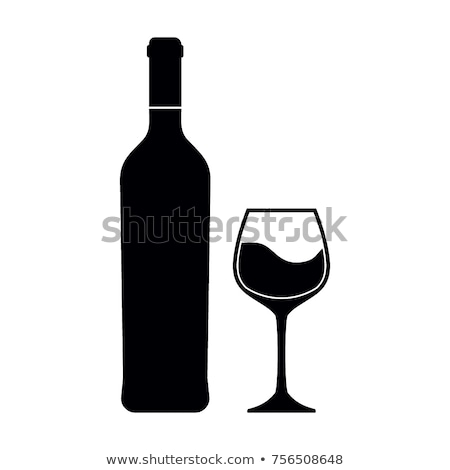 Grape with Bottle and glass, Wine Beverage Vector Stock photo © robuart