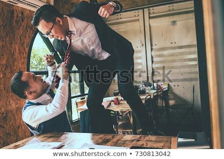 üzletember harcol kolléga iroda kettő mérges Stock fotó © AndreyPopov